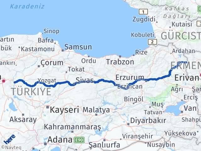 Kırıkkale Akyaka Kars Arası Kaç Km? - Kmhesaplama.com Arası Kaç Km Saat? Nerede Yol Haritası Yakıt, Rota ve Mesafe Hesaplama