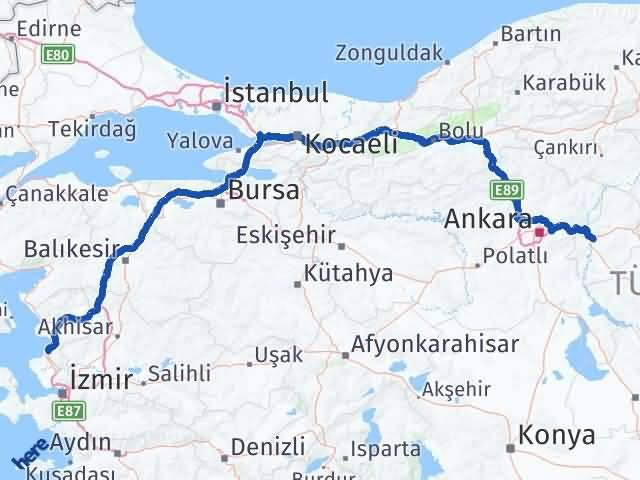 Kırıkkale Aliağa İzmir Arası Kaç Km? - Kmhesaplama.com Arası Kaç Km Saat? Nerede Yol Haritası Yakıt, Rota ve Mesafe Hesaplama