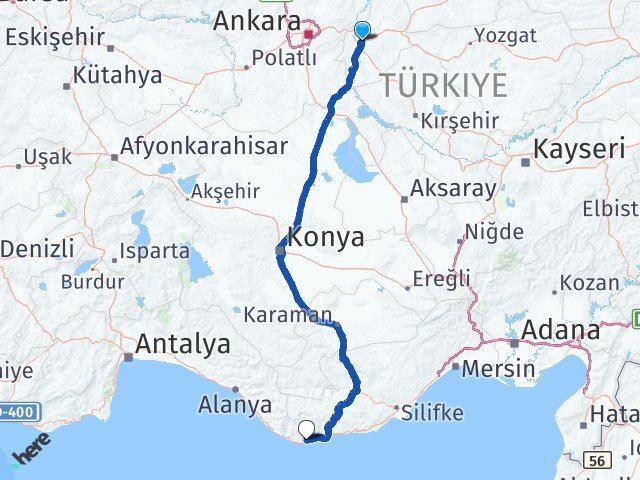 Kırıkkale Anamur Mersin Arası Kaç Km? - Kmhesaplama.com Arası Kaç Km Saat? Nerede Yol Haritası Yakıt, Rota ve Mesafe Hesaplama