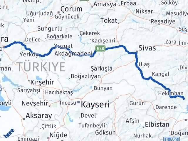 Kırıkkale Arguvan Malatya Arası Kaç Km? - Kmhesaplama.com Arası Kaç Km Saat? Nerede Yol Haritası Yakıt, Rota ve Mesafe Hesaplama