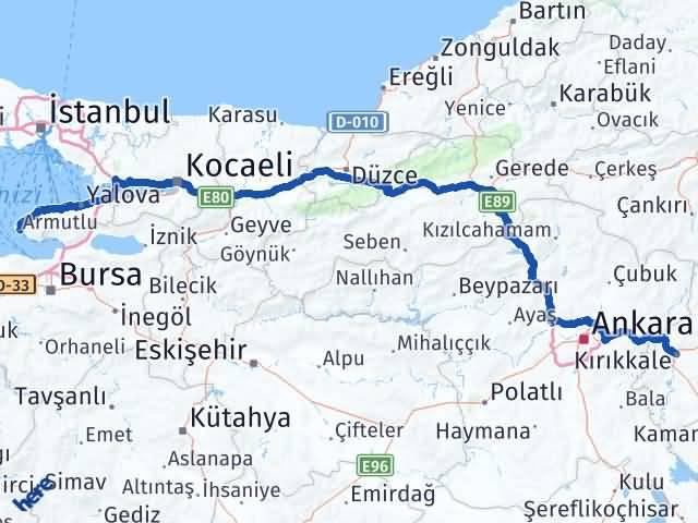 Kırıkkale Armutlu Yalova Arası Kaç Km? - Kmhesaplama.com Arası Kaç Km Saat? Nerede Yol Haritası Yakıt, Rota ve Mesafe Hesaplama