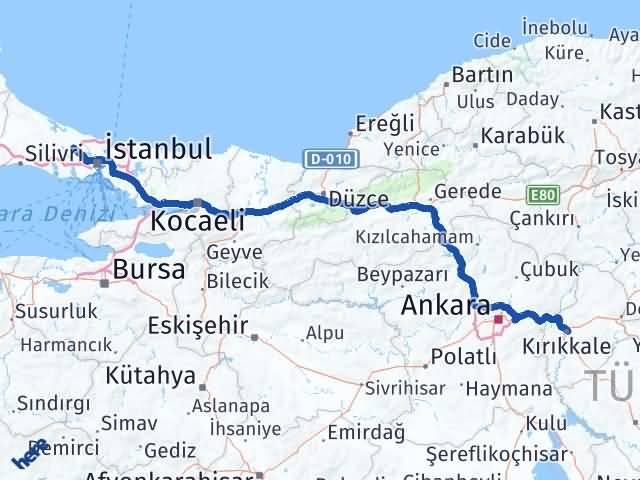 Kırıkkale Arnavutköy İstanbul Arası Kaç Km? Arası Kaç Km Saat? Nerede Yol Haritası Yakıt, Rota ve Mesafe Hesaplama