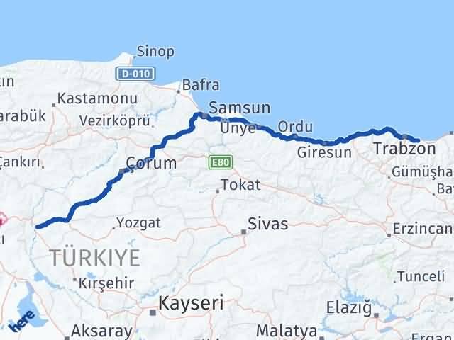 Kırıkkale Arsin Trabzon Arası Kaç Km? - Kmhesaplama.com Arası Kaç Km Saat? Nerede Yol Haritası Yakıt, Rota ve Mesafe Hesaplama