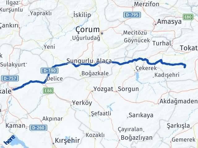 Kırıkkale Artova Tokat Arası Kaç Km? - Kmhesaplama.com Arası Kaç Km Saat? Nerede Yol Haritası Yakıt, Rota ve Mesafe Hesaplama