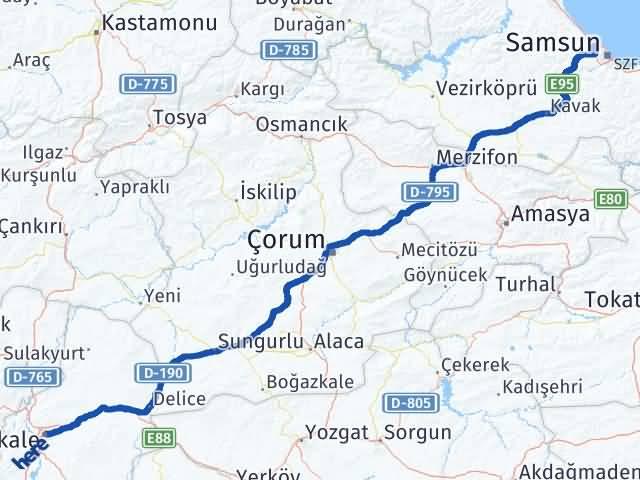 Kırıkkale Atakum Samsun Arası Kaç Km? - Kmhesaplama.com Arası Kaç Km Saat? Nerede Yol Haritası Yakıt, Rota ve Mesafe Hesaplama