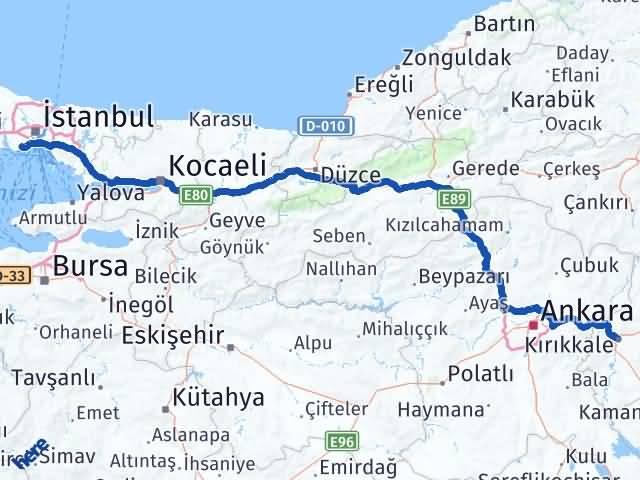 Kırıkkale Bakırköy İstanbul Arası Kaç Km? - Kmhesaplama.com Arası Kaç Km Saat? Nerede Yol Haritası Yakıt, Rota ve Mesafe Hesaplama