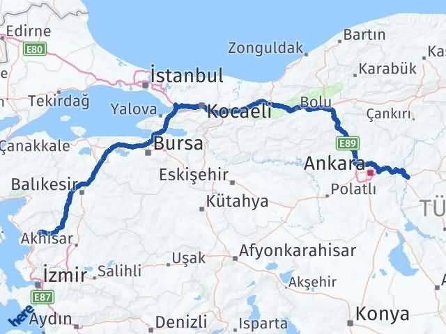 Kırıkkale Bergama İzmir Arası Kaç Km? - Kmhesaplama.com Arası Kaç Km Saat? Nerede Yol Haritası Yakıt, Rota ve Mesafe Hesaplama