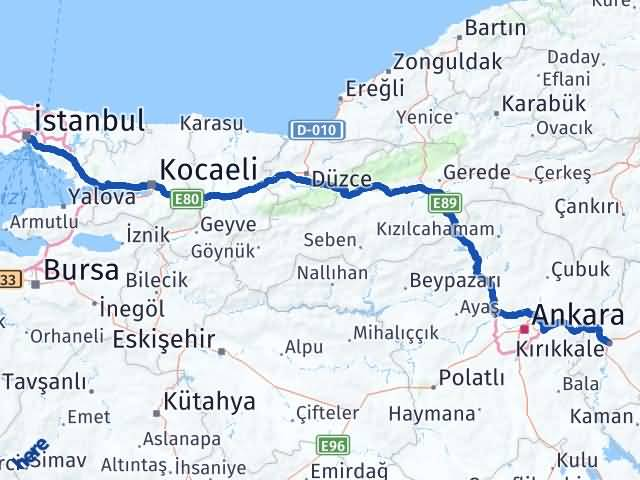 Kırıkkale Beşiktaş İstanbul Arası Kaç Km? - Kmhesaplama.com Arası Kaç Km Saat? Nerede Yol Haritası Yakıt, Rota ve Mesafe Hesaplama
