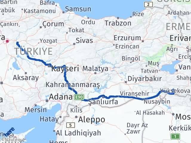 Kırıkkale Beytüşşebap Şırnak Arası Kaç Km? Arası Kaç Km Saat? Nerede Yol Haritası Yakıt, Rota ve Mesafe Hesaplama
