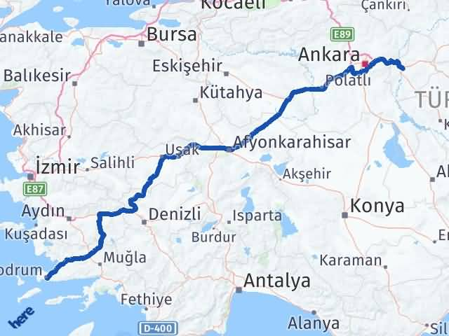 Kırıkkale Bodrum Muğla Arası Kaç Km? - Kmhesaplama.com Arası Kaç Km Saat? Nerede Yol Haritası Yakıt, Rota ve Mesafe Hesaplama
