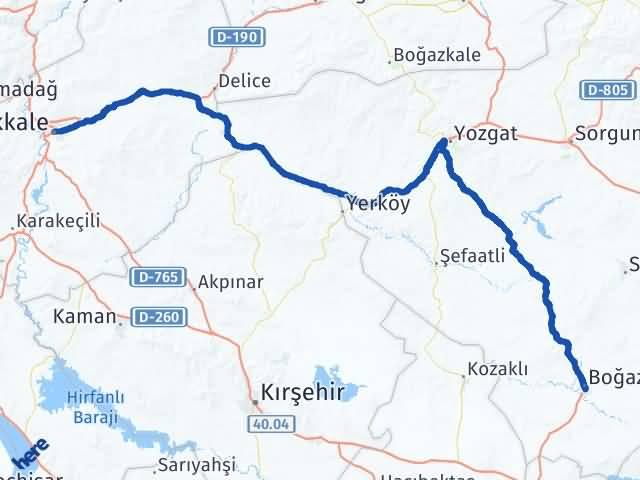Kırıkkale Boğazlıyan Yozgat Arası Kaç Km? - Kmhesaplama.com Arası Kaç Km Saat? Nerede Yol Haritası Yakıt, Rota ve Mesafe Hesaplama