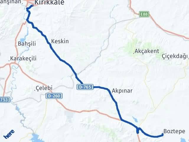 Kırıkkale Boztepe Kırşehir Arası Kaç Km? - Kmhesaplama.com Arası Kaç Km Saat? Nerede Yol Haritası Yakıt, Rota ve Mesafe Hesaplama