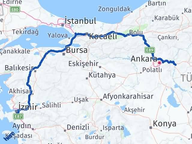 Kırıkkale Buca İzmir Arası Kaç Km? - Kmhesaplama.com Arası Kaç Km Saat? Nerede Yol Haritası Yakıt, Rota ve Mesafe Hesaplama
