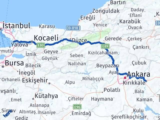 Kırıkkale Darıca Kocaeli Arası Kaç Km? - Kmhesaplama.com Arası Kaç Km Saat? Nerede Yol Haritası Yakıt, Rota ve Mesafe Hesaplama