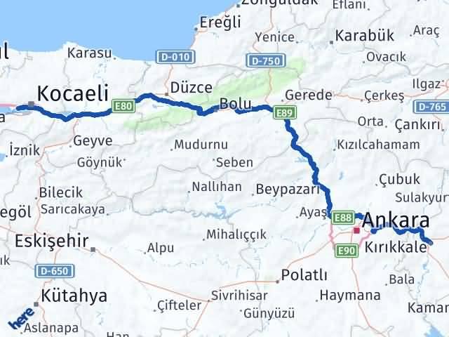 Kırıkkale Derince Kocaeli Arası Kaç Km? - Kmhesaplama.com Arası Kaç Km Saat? Nerede Yol Haritası Yakıt, Rota ve Mesafe Hesaplama