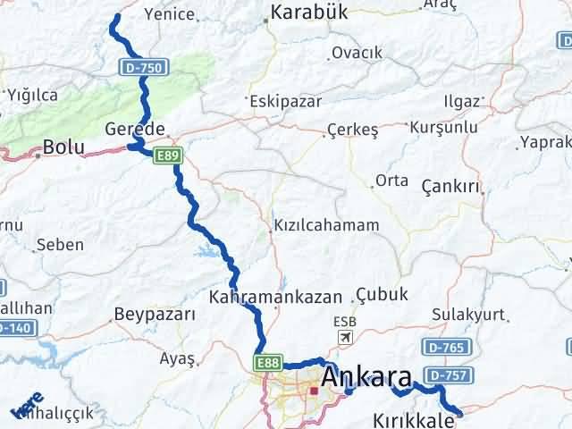 Kırıkkale Devrek Zonguldak Arası Kaç Km? - Kmhesaplama.com Arası Kaç Km Saat? Nerede Yol Haritası Yakıt, Rota ve Mesafe Hesaplama