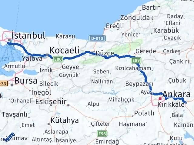 Kırıkkale Fatih İstanbul Arası Kaç Km? - Kmhesaplama.com Arası Kaç Km Saat? Nerede Yol Haritası Yakıt, Rota ve Mesafe Hesaplama