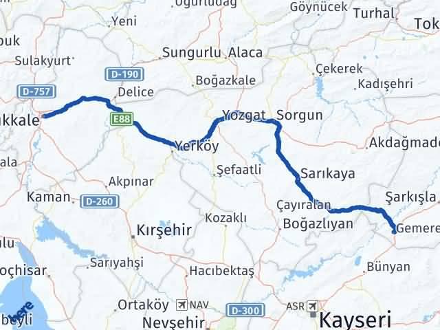 Kırıkkale Gemerek Sivas Arası Kaç Km? - Kmhesaplama.com Arası Kaç Km Saat? Nerede Yol Haritası Yakıt, Rota ve Mesafe Hesaplama