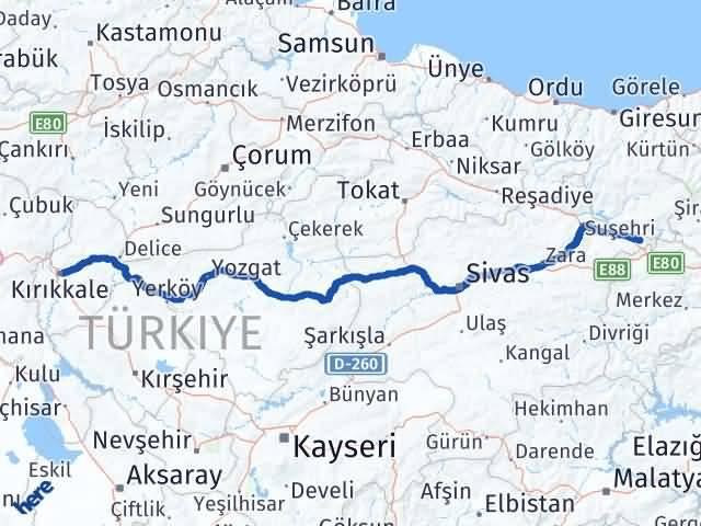 Kırıkkale Gölova Sivas Arası Kaç Km? - Kmhesaplama.com Arası Kaç Km Saat? Nerede Yol Haritası Yakıt, Rota ve Mesafe Hesaplama