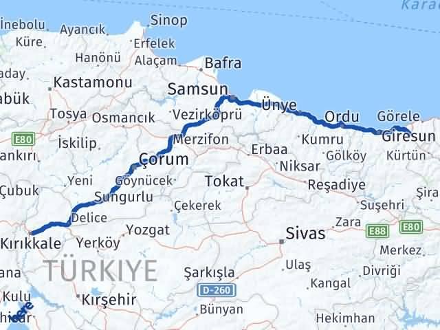 Kırıkkale Güce Giresun Arası Kaç Km? - Kmhesaplama.com Arası Kaç Km Saat? Nerede Yol Haritası Yakıt, Rota ve Mesafe Hesaplama