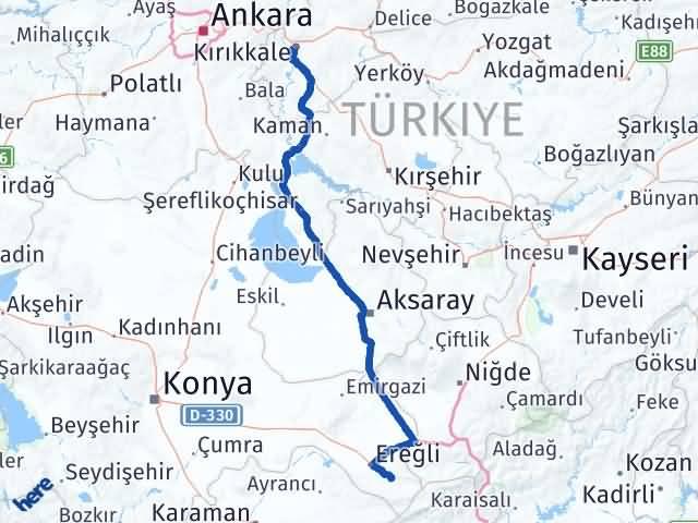 Kırıkkale Halkapınar Konya Arası Kaç Km? - Kmhesaplama.com Arası Kaç Km Saat? Nerede Yol Haritası Yakıt, Rota ve Mesafe Hesaplama