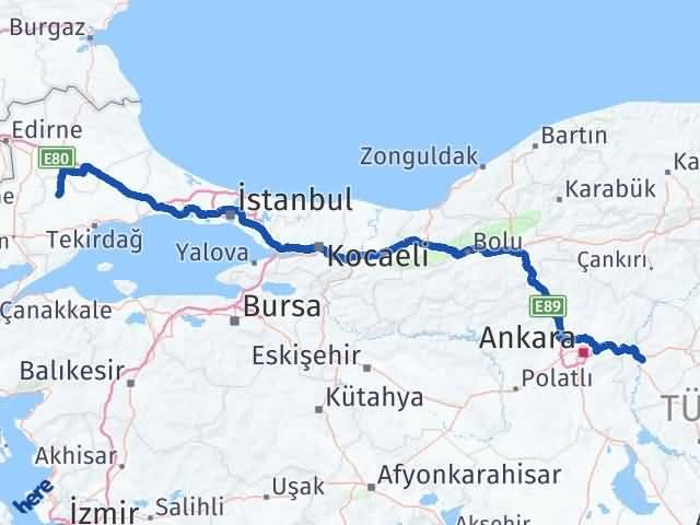 Kırıkkale Hayrabolu Tekirdağ Arası Kaç Km? Arası Kaç Km Saat? Nerede Yol Haritası Yakıt, Rota ve Mesafe Hesaplama