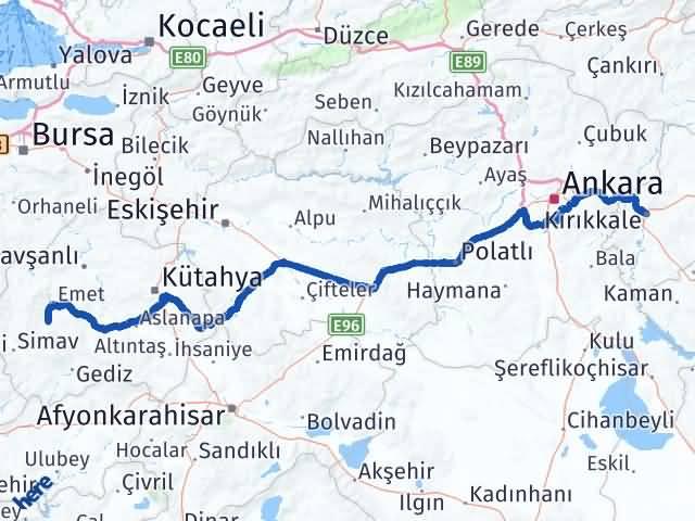 Kırıkkale Hisarcık Kütahya Arası Kaç Km? - Kmhesaplama.com Arası Kaç Km Saat? Nerede Yol Haritası Yakıt, Rota ve Mesafe Hesaplama