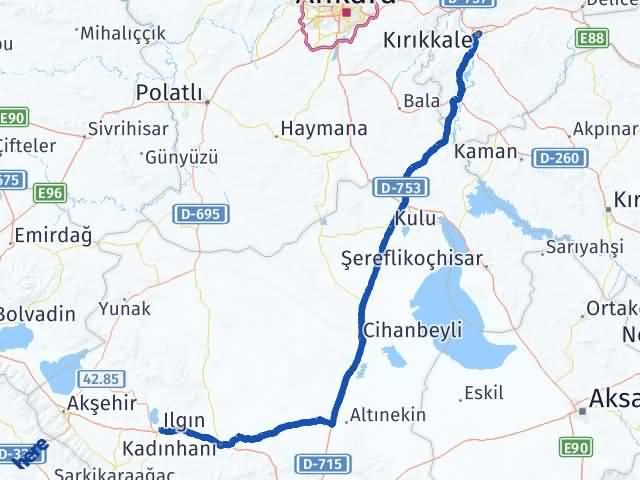 Kırıkkale Ilgın Konya Arası Kaç Km? - Kmhesaplama.com Arası Kaç Km Saat? Nerede Yol Haritası Yakıt, Rota ve Mesafe Hesaplama