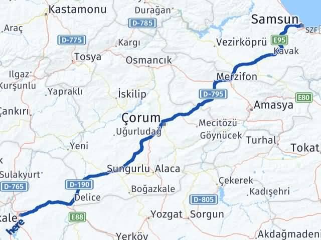 Kırıkkale İlkadım Samsun Arası Kaç Km? - Kmhesaplama.com Arası Kaç Km Saat? Nerede Yol Haritası Yakıt, Rota ve Mesafe Hesaplama