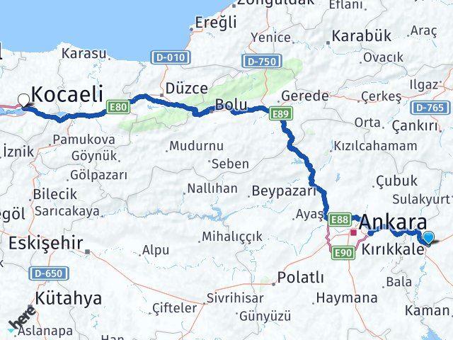 Kırıkkale İzmit Kocaeli Arası Kaç Km? - Kmhesaplama.com Arası Kaç Km Saat? Nerede Yol Haritası Yakıt, Rota ve Mesafe Hesaplama