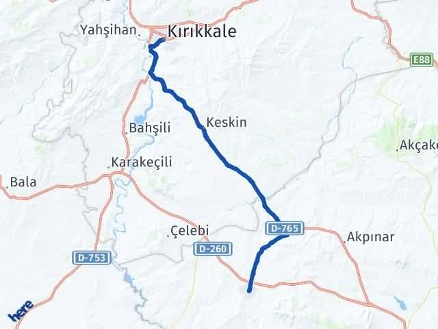 Kırıkkale Kaman Kırşehir Arası Kaç Km? - Kmhesaplama.com Arası Kaç Km Saat? Nerede Yol Haritası Yakıt, Rota ve Mesafe Hesaplama