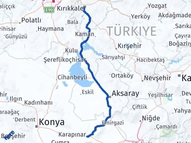 Kırıkkale Karapınar Konya Arası Kaç Km? - Kmhesaplama.com Arası Kaç Km Saat? Nerede Yol Haritası Yakıt, Rota ve Mesafe Hesaplama