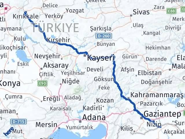 Kırıkkale Karkamış Gaziantep Arası Kaç Km? Arası Kaç Km Saat? Nerede Yol Haritası Yakıt, Rota ve Mesafe Hesaplama