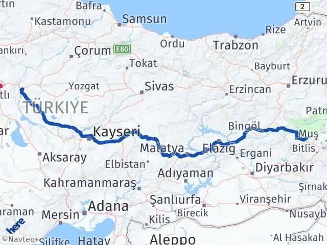 Kırıkkale Korkut Muş Arası Kaç Km? - Kmhesaplama.com Arası Kaç Km Saat? Nerede Yol Haritası Yakıt, Rota ve Mesafe Hesaplama