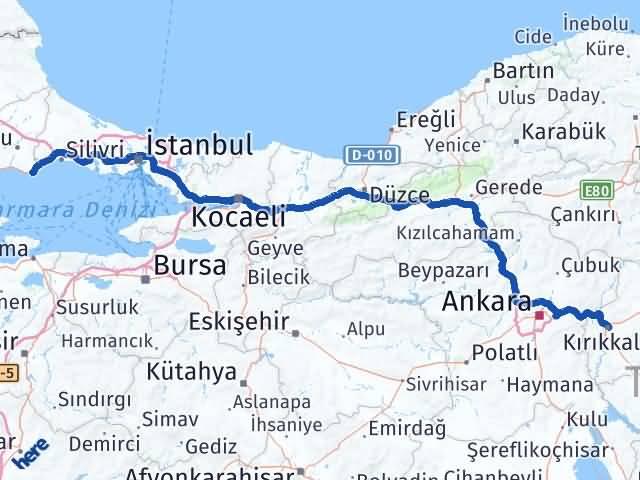 Kırıkkale Marmaraereğlisi Tekirdağ Arası Kaç Km? Arası Kaç Km Saat? Nerede Yol Haritası Yakıt, Rota ve Mesafe Hesaplama
