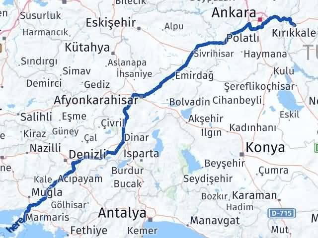 Kırıkkale Marmaris Muğla Arası Kaç Km? - Kmhesaplama.com Arası Kaç Km Saat? Nerede Yol Haritası Yakıt, Rota ve Mesafe Hesaplama