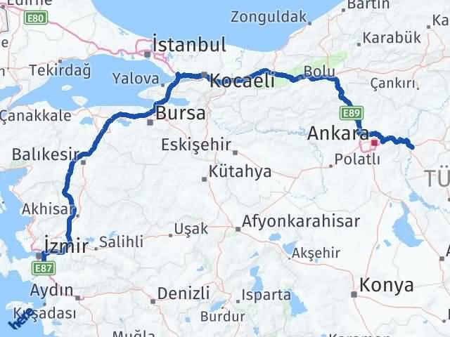 Kırıkkale Menderes İzmir Arası Kaç Km? - Kmhesaplama.com Arası Kaç Km Saat? Nerede Yol Haritası Yakıt, Rota ve Mesafe Hesaplama