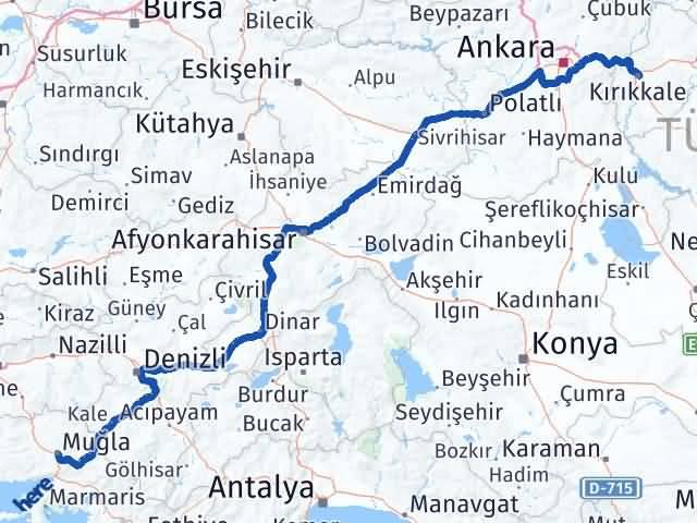 Kırıkkale Menteşe Muğla Arası Kaç Km? - Kmhesaplama.com Arası Kaç Km Saat? Nerede Yol Haritası Yakıt, Rota ve Mesafe Hesaplama