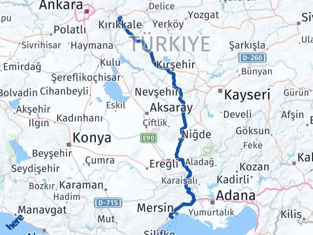 Kırıkkale Mezitli Mersin Arası Kaç Km? - Kmhesaplama.com Arası Kaç Km Saat? Nerede Yol Haritası Yakıt, Rota ve Mesafe Hesaplama