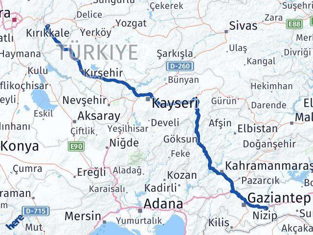 Kırıkkale Nizip Gaziantep Arası Kaç Km? - Kmhesaplama.com Arası Kaç Km Saat? Nerede Yol Haritası Yakıt, Rota ve Mesafe Hesaplama