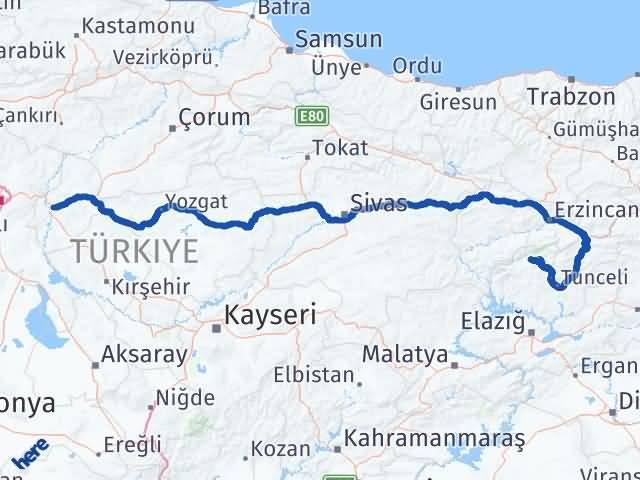 Kırıkkale Ovacık Tunceli Arası Kaç Km? - Kmhesaplama.com Arası Kaç Km Saat? Nerede Yol Haritası Yakıt, Rota ve Mesafe Hesaplama
