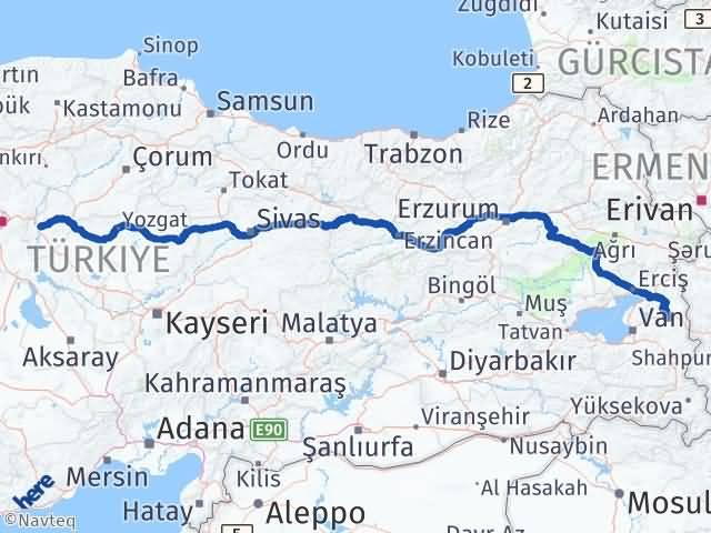 Kırıkkale Özalp Van Arası Kaç Km? - Kmhesaplama.com Arası Kaç Km Saat? Nerede Yol Haritası Yakıt, Rota ve Mesafe Hesaplama