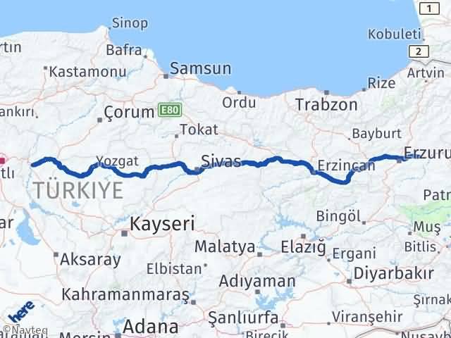 Kırıkkale Pasinler Erzurum Arası Kaç Km? - Kmhesaplama.com Arası Kaç Km Saat? Nerede Yol Haritası Yakıt, Rota ve Mesafe Hesaplama