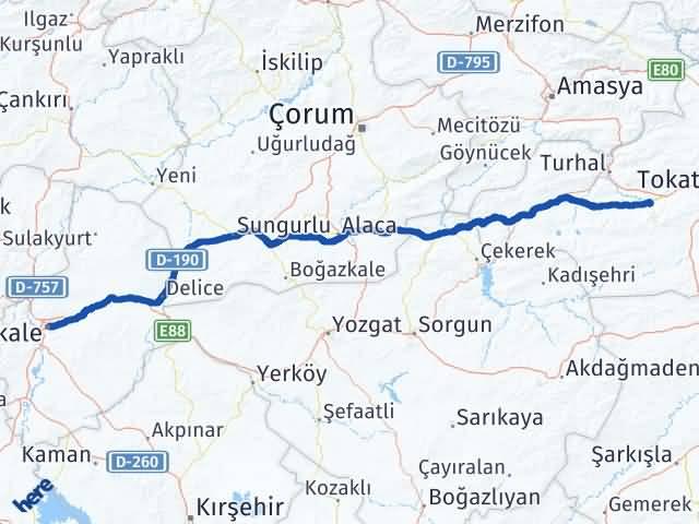 Kırıkkale Pazar Tokat Arası Kaç Km? - Kmhesaplama.com Arası Kaç Km Saat? Nerede Yol Haritası Yakıt, Rota ve Mesafe Hesaplama