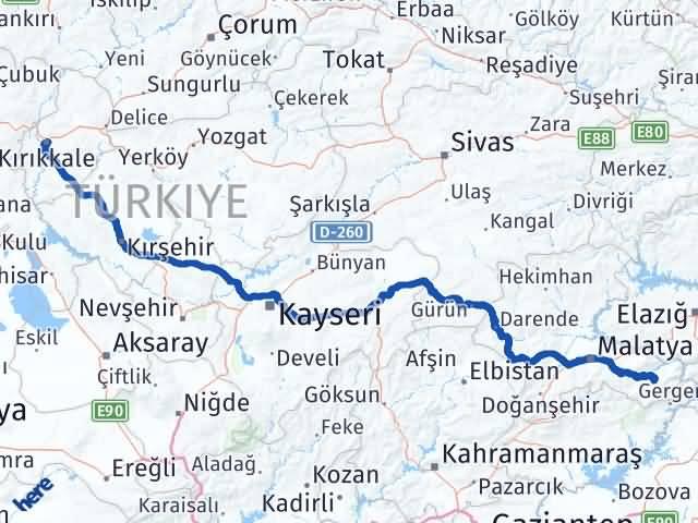 Kırıkkale Pütürge Malatya Arası Kaç Km? - Kmhesaplama.com Arası Kaç Km Saat? Nerede Yol Haritası Yakıt, Rota ve Mesafe Hesaplama