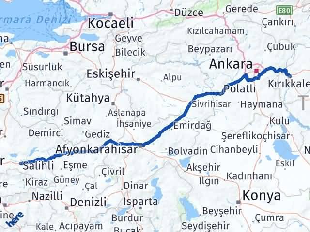 Kırıkkale Salihli Manisa Arası Kaç Km? - Kmhesaplama.com Arası Kaç Km Saat? Nerede Yol Haritası Yakıt, Rota ve Mesafe Hesaplama
