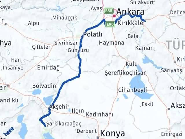 Kırıkkale Şarkikaraağaç Isparta Arası Kaç Km? Arası Kaç Km Saat? Nerede Yol Haritası Yakıt, Rota ve Mesafe Hesaplama