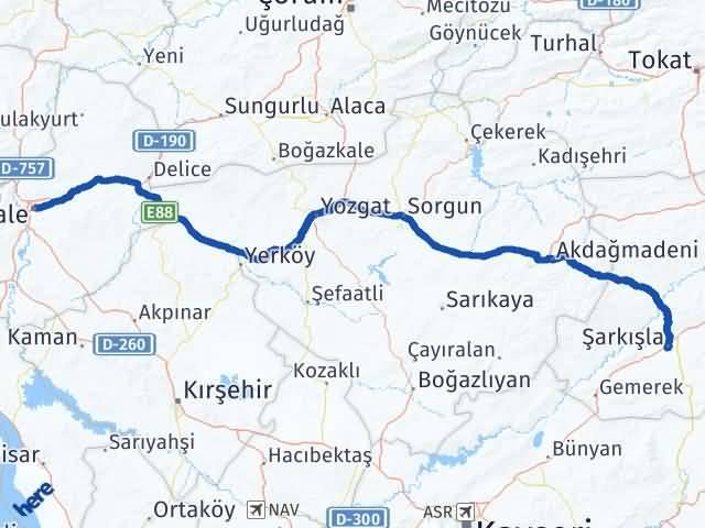 Kırıkkale Şarkışla Sivas Arası Kaç Km? - Kmhesaplama.com Arası Kaç Km Saat? Nerede Yol Haritası Yakıt, Rota ve Mesafe Hesaplama