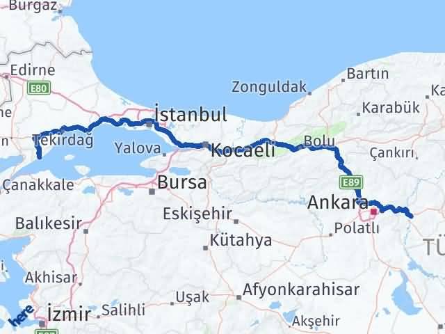 Kırıkkale Şarköy Tekirdağ Arası Kaç Km? - Kmhesaplama.com Arası Kaç Km Saat? Nerede Yol Haritası Yakıt, Rota ve Mesafe Hesaplama
