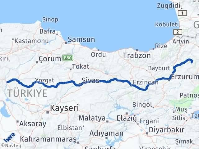Kırıkkale Şenkaya Erzurum Arası Kaç Km? - Kmhesaplama.com Arası Kaç Km Saat? Nerede Yol Haritası Yakıt, Rota ve Mesafe Hesaplama